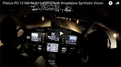 PC12 Night landing
