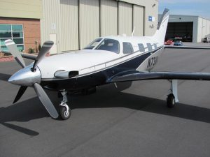 2010 Piper Meridian - N73VK on Landing Strip