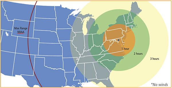 PC12 from Baltimore Range Map