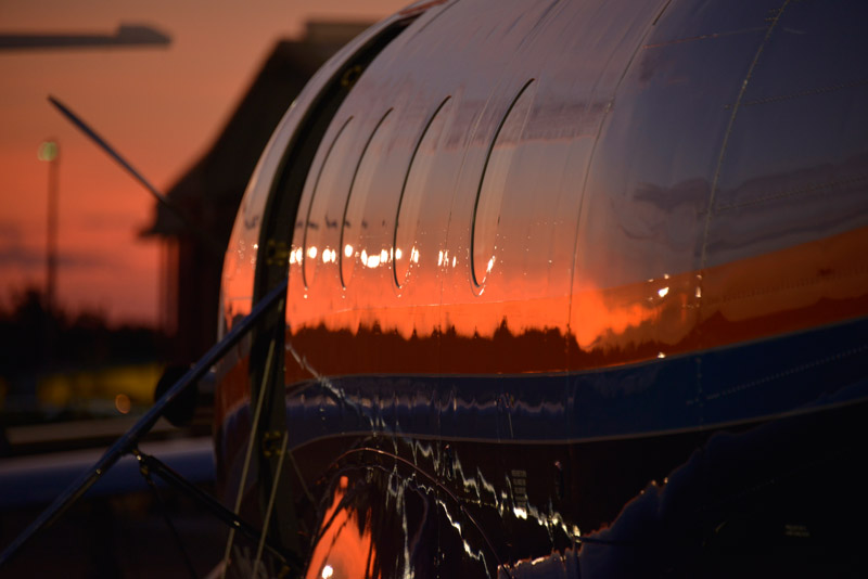 pilatus pc-12 sunset