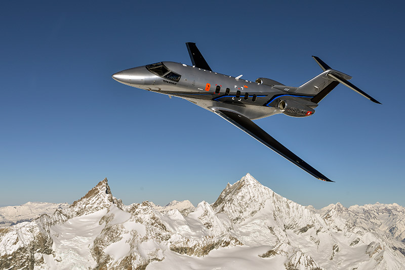 Pilatus PC-24 in flight