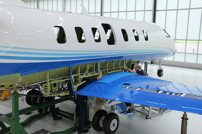 First PC-24  Wing Marriage