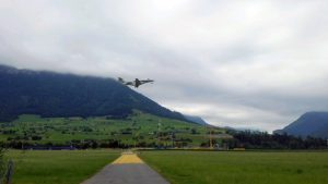 PC24 SN 107 takeoff from Switzerland