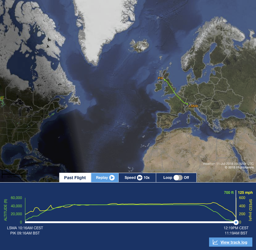 PC-24 SN 107 on flight tracker