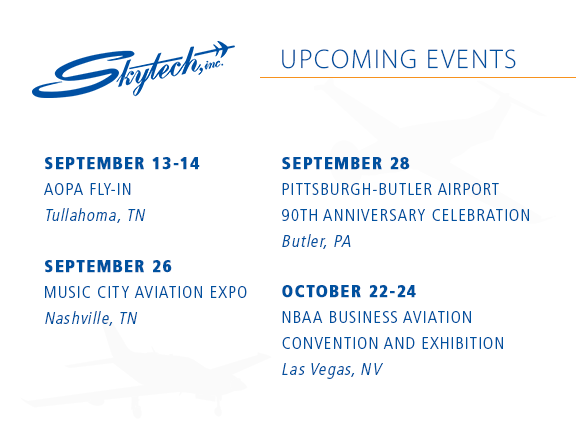 Skytech 2019 Schedule of Events